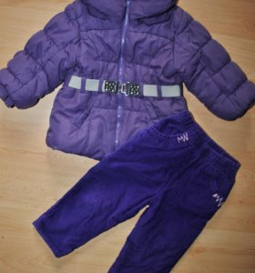 Куртка H&M и утепленные штаны, р.80