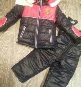 Новый зимний костюм р80-86