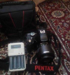 PENTAX K-x kit 18-55 черный