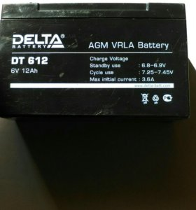 Аккумуляторная батарея 6 V