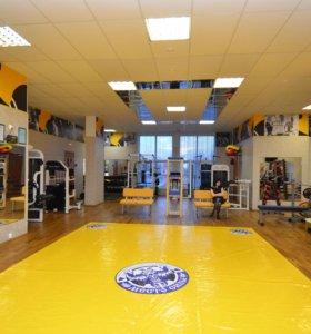Борцовский ковер жёлтый 4х7 четвёрка