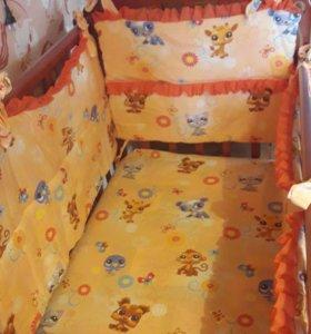 """Детская кроватка """"Фея"""" из массива берёзы"""