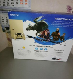 Новая! Sony Playstation 4 1Tb slim(gold)