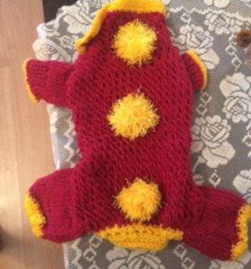 Вязаный свитер для собаки (размер М)