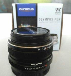 объектив olympus 17mm f1.8