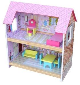 Кукольный домик «Коттедж» (новый в коробке)