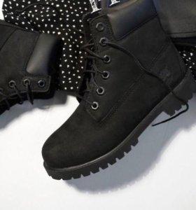 Ботинки тимберленды зима 36 37 38 39 40 нубук