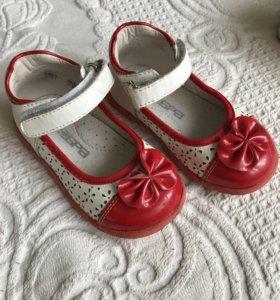Туфельки фирмы Зебра 22 размер (13,5 стелька)