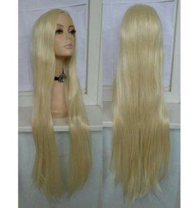 Парик блонд 100см без чёлки