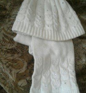 Наборы шапка + шарф для взрослых и подростков