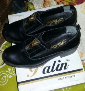 Туфли женские 36 размер. Новые кожаные
