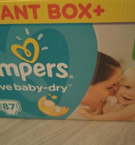 Коробка pampers active baby dry 5, пеленки.