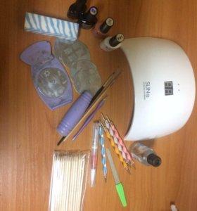 Набор для гель-лака с УФ лампой 24В