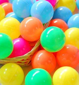 Мячи разноцветные для сухого бассейна