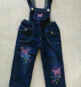 Комбинезон НОВЫЙ джинсовый утепленный