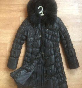 Зимнее пальто Clasna с натуральным  мехом