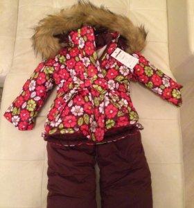 Новая зимняя куртка и полукомб. на 80 см