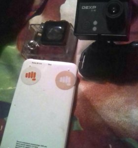 Экшен камера и power bank на 5000мАч