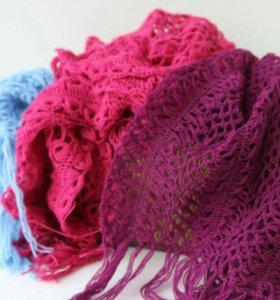Вязаные шарфы, снуды.