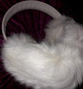 Наушники из натурального меха(кролик)