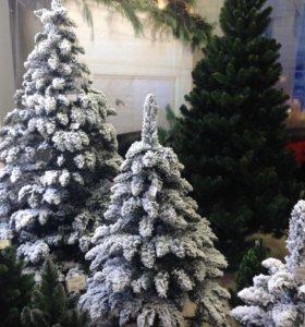 Новогодняя заснеженная ёлка - искусственная 1.8м