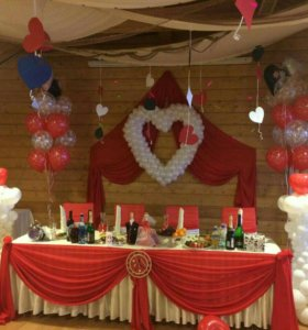 Украшение бюджетных свадеб, мероприятий.