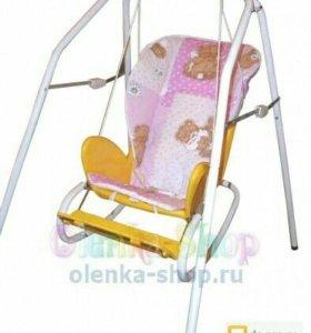 Детский стул для кормления + качели