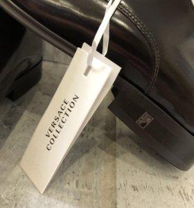 Новые мужские кожаные туфли Versace
