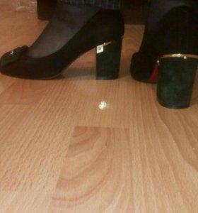 Туфли нат.замша р.37