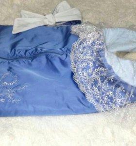 Зимнее одеялко-конверт на выписку