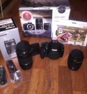 canon eos 1200d double kit 18-55mm; 75-300mm