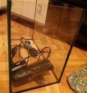 аквариум с аксессуарами