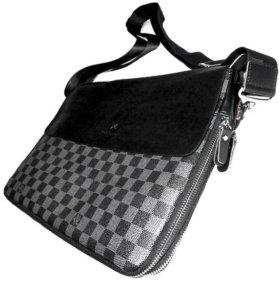 Стильная мужская сумка -LVuitton- А4 iPad новая