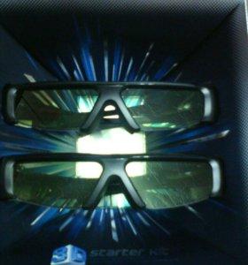 Очки 3D samsung новые на батарейках