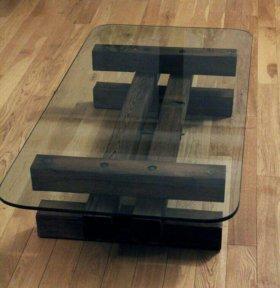 Стол кресло из дерева под старину сосна