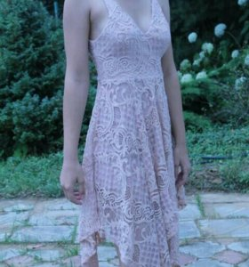 Платье с ассиметричной юбкой Asos