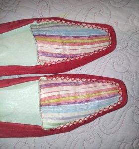 Кожаные женские туфли, 39 р-р