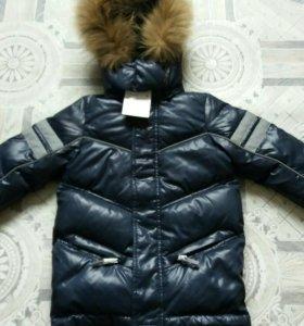 Новая удлиненная зимняя куртка Футурино р. 104-110