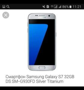 Оригинал Samsung Galaxy S7 Silver срочно!