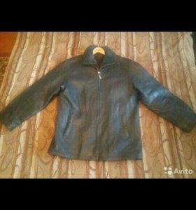 Демисезонная куртка Толстенная кожа