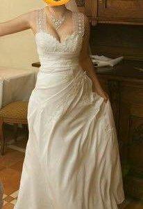Свадебное платье + фата и болеро
