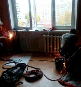 Сантехнические,сварочные,газоэлектросв.работы