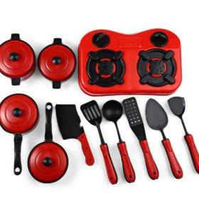 Набор посуды + плита (11 предметов)