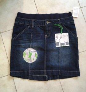 Новая юбка джинс для беременных