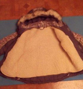 Куртка зимняя на мальчика, подклад из овчины.