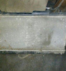 Радиатор, вентиляторы, субару легаси 1999г.