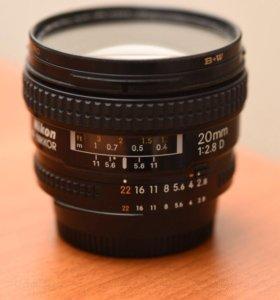 Обьектив Nikon 20mm f/2.8D
