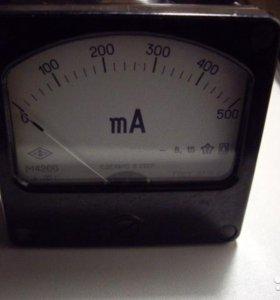 Милиамперметр на постоянный ток до 500Ма М 4200