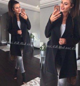 Чёрное пальто,кашемир