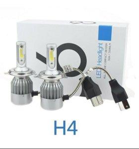 Светодиодные лампы C6 LED H4 7600lm